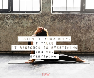 body, exercise, and feelings image