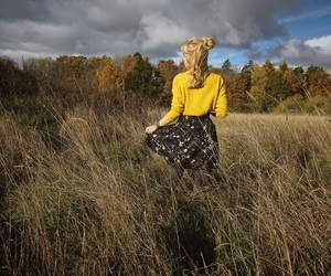 autumn, blonde, and fall image