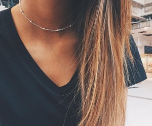 girl, jewelry, and necklace image