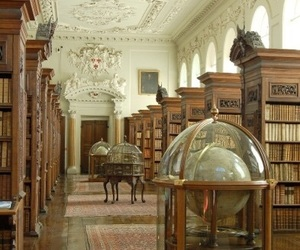 books, library, and vintage image