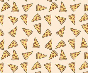 pizza, food, and pattern image