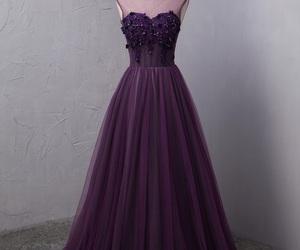 maxi dress, prom dresses, and purple dress image