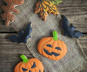 biscuits, Halloween, and leaves image