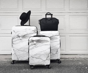 marble, bag, and suitcase image