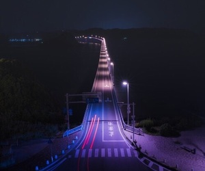 night, purple, and light image