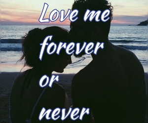 love, forever, and love me image