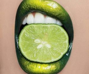 lips, green, and lemon image