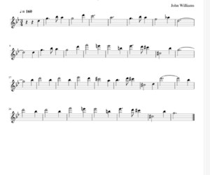 harry potter, music, and sheet music image