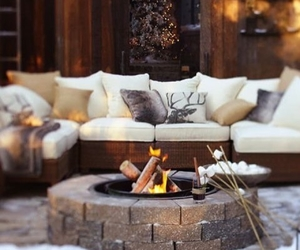winter, christmas, and fire image