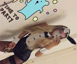 beautiful, blonde, and bunny image