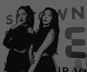 black and white, joy, and red velvet image