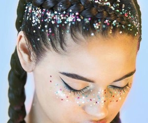 beauty, girl, and glitter image