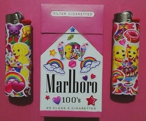 marlboro, pink, and cigarette image