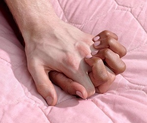 aesthetic, interracial, and hands image