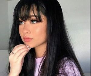 bangs, girl, and makeup image
