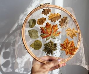 autumn and embroidery image