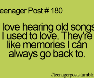 teenager post, memories, and music image