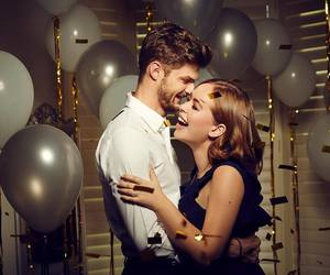 balloons, couple, and goals image