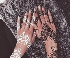 henna, white, and black image