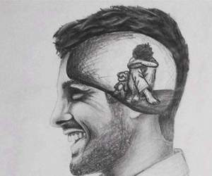 beautiful, smiling, and drawing image