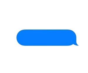 message and png image