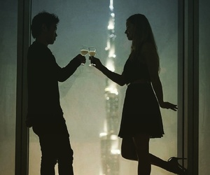 couple, night, and Relationship image
