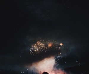 night, fireworks, and sky image