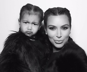 kim kardashian and north west image