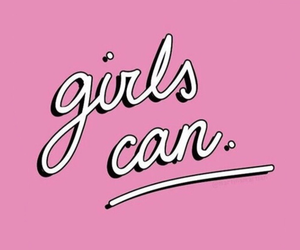 girl, pink, and feminism image
