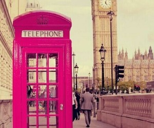 london, phone booth, and style image
