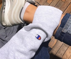 champion, nike, and shoes image