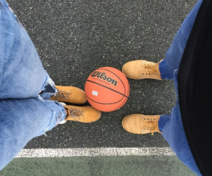 Basketball, together, and love image
