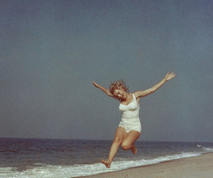 beach, vintage, and 1950s image