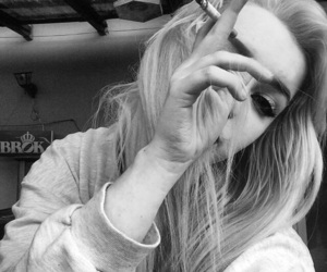 girl, grunge, and cigarette image