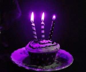 cupcake, purple, and cake image