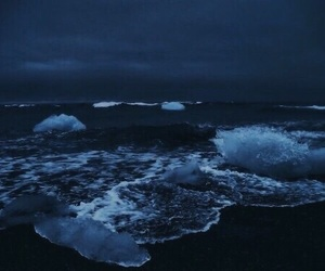 blue, ocean, and dark image