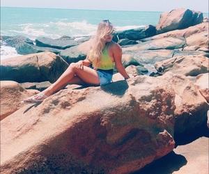beach, bikini, and saudades image