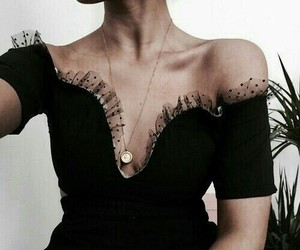 dress, girl, and necklace image