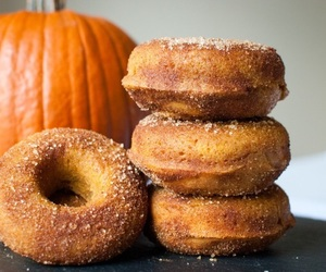 fall, autumn, and donuts image