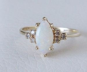vintage, engagement ring, and marquise image