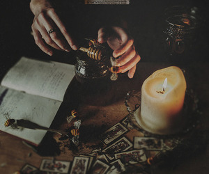 witchcraft, candle, and witch image