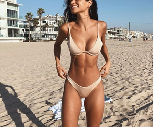 beach, girl, and abs image