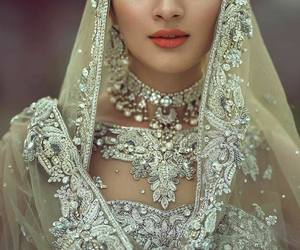 punjabi, wedding dress, and indian bride image