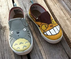 shoes, totoro, and smile cat image