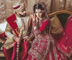 bride and groom, marriage, and punjabi image
