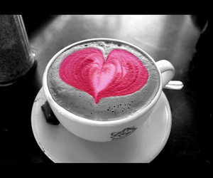 heart, coffee, and pink image