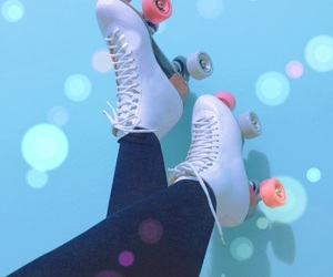 chic, patin, and skate roller image