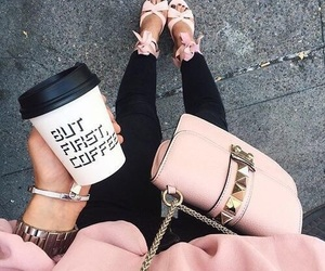 fashion, pink, and coffee image