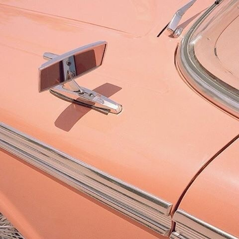 aesthetic, peach, and car image