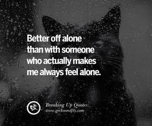 alone, black and white, and cat image